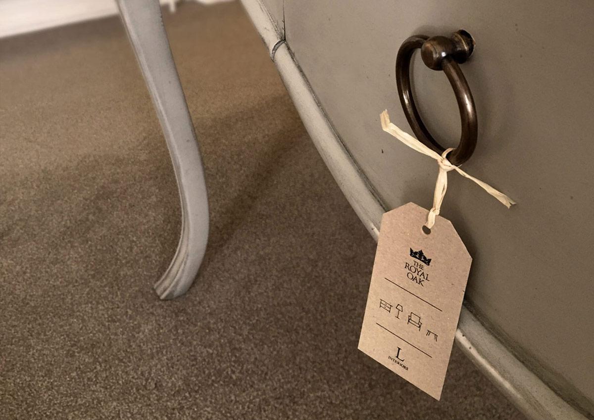 Royal Oak Furniture Tag